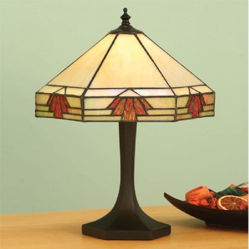 Nevada Small Table Lamp (Art Deco, Small Table Lamp) TM16ST (Tiffany style)